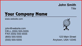 Sample Raised Letter Business Card - Blue Texture