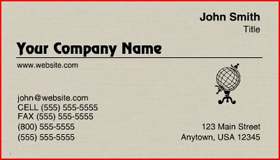 Sample Raised Letter Business Card - Dove Grey