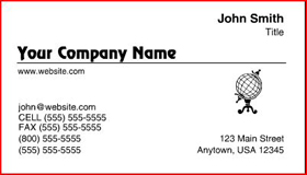 Sample Raised Letter Business Card - High Gloss White