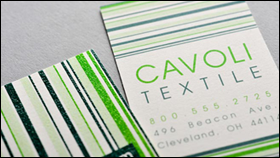 white smooth l full color raised ink - Raised Lettering Business Cards